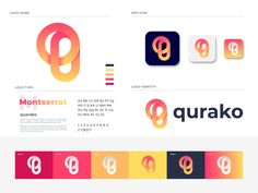 quarako branding by Md Rasel on Dribbble Typo Logo, Logo Branding, Identity Design, Brand Identity, Visual Identity, Logo Guidelines, Tracking Website, Logo Images, Logo Design Inspiration