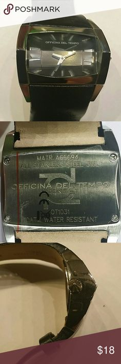 Officina del Tempo watch Made in Italy, New ,Genuine leather band, original design, water resistant, no box, battery needed Officina del Tempo  Accessories Watches