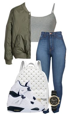 """..."" by samanthacloset ❤ liked on Polyvore featuring H&M and Michael Kors"