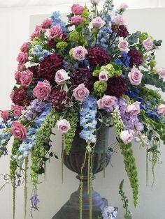 ** Cascading floral arrangement