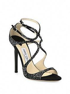 8ca7bf35ee6494 Jimmy Choo - Memento Crystalized Suede StrappySandals  JimmyChoo Strap  Sandals