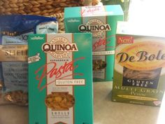 For allergy sufferers there are a variety of wheat/gluten-free or corn free pastas. I love Ancient Harvest Gluten free Quinoa Pasta. De Bole makes Gluten Free Multi Grain Patas. There are Rice Pastas.