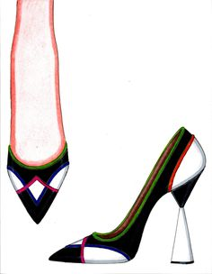 Shoe Sketches, Dress Sketches, Moda Fashion, Fashion Shoes, Fashion Accessories, Drawing High Heels, Gents Shoes, Cool High Heels, Walk In My Shoes