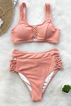 013b10c10b91c Cupshe High Waisted Bikini Set   Swimwear   Summer #Ad #summer #swimwear #