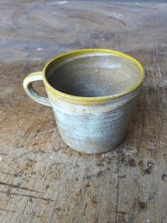 Stoneware cup in Rutile and Yellow glaze, 2015