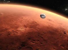 Curiosity Lander coming in