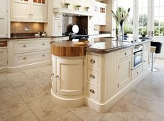 classic kitchen with center island