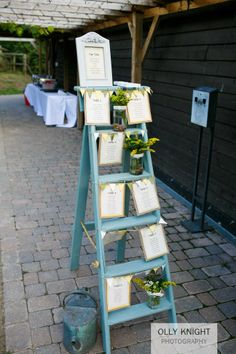 Neal & Dee's Wedding- A table plan on a ladder!