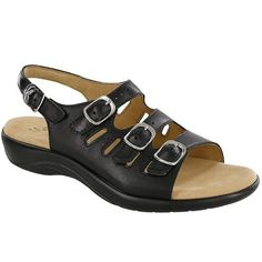 Mystic Sandal in Black Leather