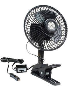 12 Volt Oscillating Clip On Car Fan
