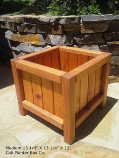 Beautiful Solid Redwood Planter Boxes by CaliPlanterBoxCo on Etsy, $73.00