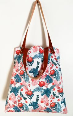 Excited to share the latest addition to my shop: Large Red Protea Cotton Tote Bag With Leather Shoulder Straps Cotton Tote Bags, Reusable Tote Bags, Watercolor Pattern, Large Tote, Teal Blue, Shoulder Straps, Etsy Shop, Purses, Trending Outfits