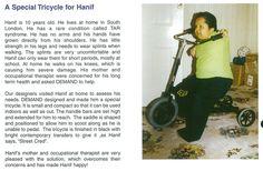 A custom trike for Hanif, who has TAR syndrome - 2000