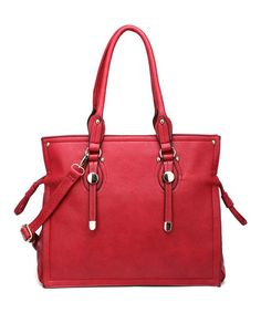 LOVE this color! Red Olie Tote by Amore #zulilyfinds