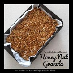 The road to loving my Thermomix: Honey Nut Granola Gluten Free Treats, Good Enough To Eat, Healthy Desserts, Breakfast Recipes, Brunch Recipes, Baking Recipes, Snacks, Honey, Cinnamon