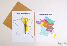 Pour apprendre les régions de la France métropolitaine et leurs villes Chefs-lieux, rien de mieux que ce puzzle à imprimer ! Entre jeu et leçon de géographie, voici la carte des régions de France à imprimer et à assembler ! Un set idéal pour les élèves de cycle 3 ! Puzzles, Ville France, Projects To Try, Animation, Memes, Cycle 3, Tour, Inspiration, Voici