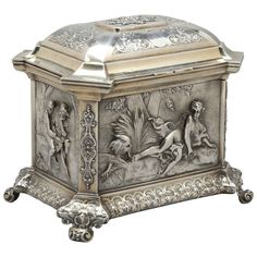 Sterling Silver Table Box | From a unique collection of antique and modern furniture at http://www.1stdibs.com/furniture/asian-art-furniture/furniture/
