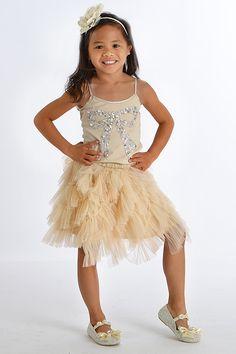 Tutu Du Monde Girls Holiday Skirt Set Crystal Bow $134.00