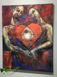 Peace, Love, and Blaze  by Jamaican artist, Cecil Cooper, which is located at the National Gallery of Jamaica.