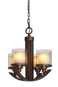 Artcraft Lighting AC1244 Transitional 4 Light Up Lighting Chandelier from the Sierra Collection - LightingDirect.com