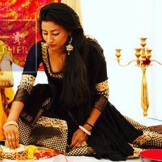 Punjabi wedding black anarkali