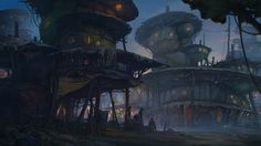 ArtStation - Fantasy settlement, Sergey Vasnev