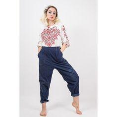 Vintage distressed denim / 1940s 1950s SR jeans / High waist with side zipper painterly jeans / Ranch work wear / M L