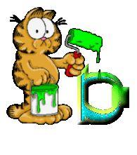Garfield painting alphabets