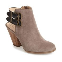 """Sole Society 'Austin' Suede Bootie, 3 1/4"""" heel ($40) ❤ liked on Polyvore"""