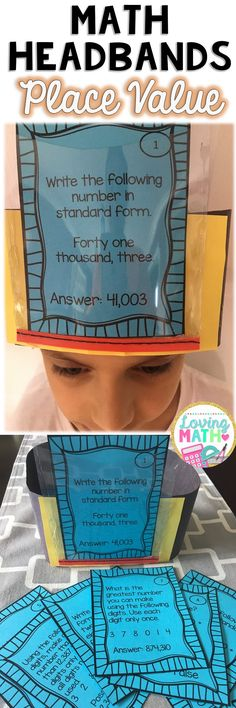 Your students will have so much fun with this Place Value Headbands Game!