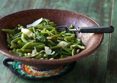 Green Beans and Spinach Salad - Paahdettu papu-pinaattisalaatti, resepti – Ruoka.fi