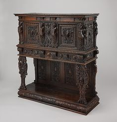 Dresser (Dressoir aux harpies) French  (Ile-de-France) or Artist: French (Burgundo-Lyonnais) Date: ca. 1570–90, and 19th century