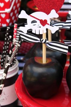 Candied Apple from a Pirate Themed Valentine Party via Kara's Party Ideas KarasPartyIdeas.com (20)