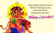Happy Navratri Status, Happy Navratri Wishes, Happy Navratri Images, Durga Maa, Durga Goddess, Navratri Image Hd, Sayri Hindi Love, Navratri Quotes, Navratri Greetings