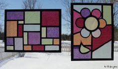 Au fil des jours: ''Faux '' vitrail Art Plastique, Art For Kids, Cube, Crafts, Steiner Waldorf, Reggio, Air, Voici, Montessori