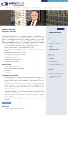 Attorney bio, web design by PaperStreet