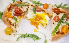 Pizza primavera de masa italiana