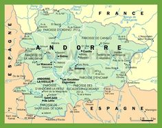 Political map of andorra