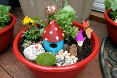 * Teacher Appreciation Gift: Fairy Garden Bowls