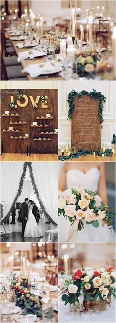 rustic elegant wedding reception theme idea; featured photographer: Diana McGregor