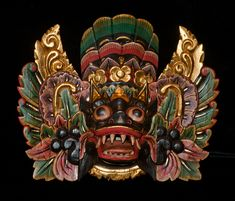 This authentic Barong mask and other wood masks for sale here. This mask will make a beautiful addition to your home or office, Balinese culture to you.