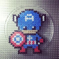 Captain America perler beads by  who9498