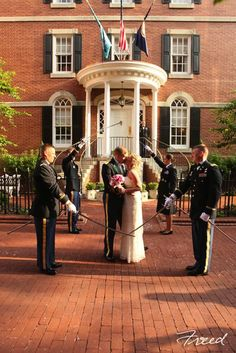 Arch Of Sabers Ceremony In Front The Morrison House Old Town Alexandria