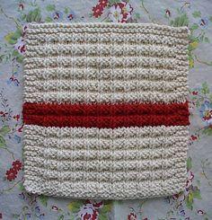 homespun living: waffle knit dishcloth pattern