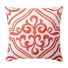 I pinned this Tile Linen Pillow in Mango from the Cream & Creamsicle event at Joss and Main!