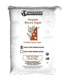 Wholesome Sweeteners Sugar, Organic Light Brown, 50 Pound - http://goodvibeorganics.com/wholesome-sweeteners-sugar-organic-light-brown-50-pound/