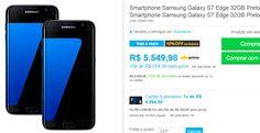 2 Smartphone Samsung Galaxy S7 Edge 32GB >