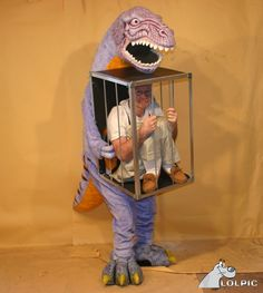 """This usually comes up early in a """"best costumes ever"""" google search.  I think he's a paleontologist."""