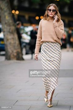 Olivia Palermo outside Peter Pilotto during London Fashion Week September 2017 on September 17 2017 in London England