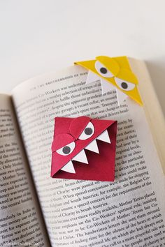 How to Make Corner Bookmarks - Monster Corner Bookmarks and Big Hero Six Characters // localadventurer.com